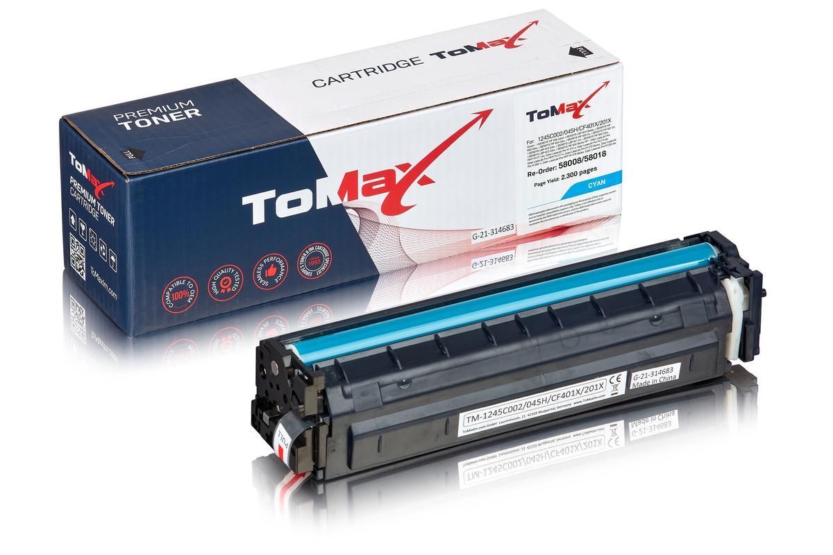 ToMax Premium ersetzt Canon 1245C002 / 045H Toner, cyan