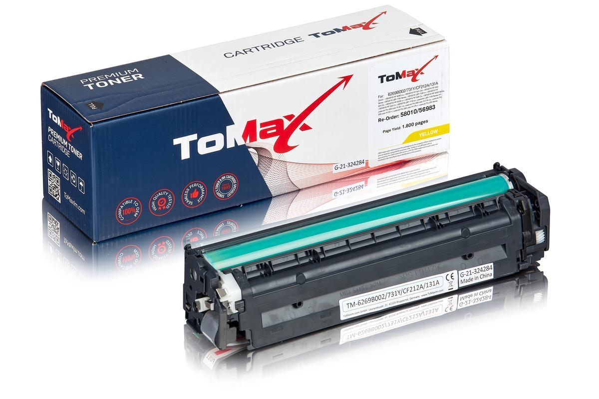 ToMax Premium ersetzt Canon 6269B002 / 731Y Toner, gelb