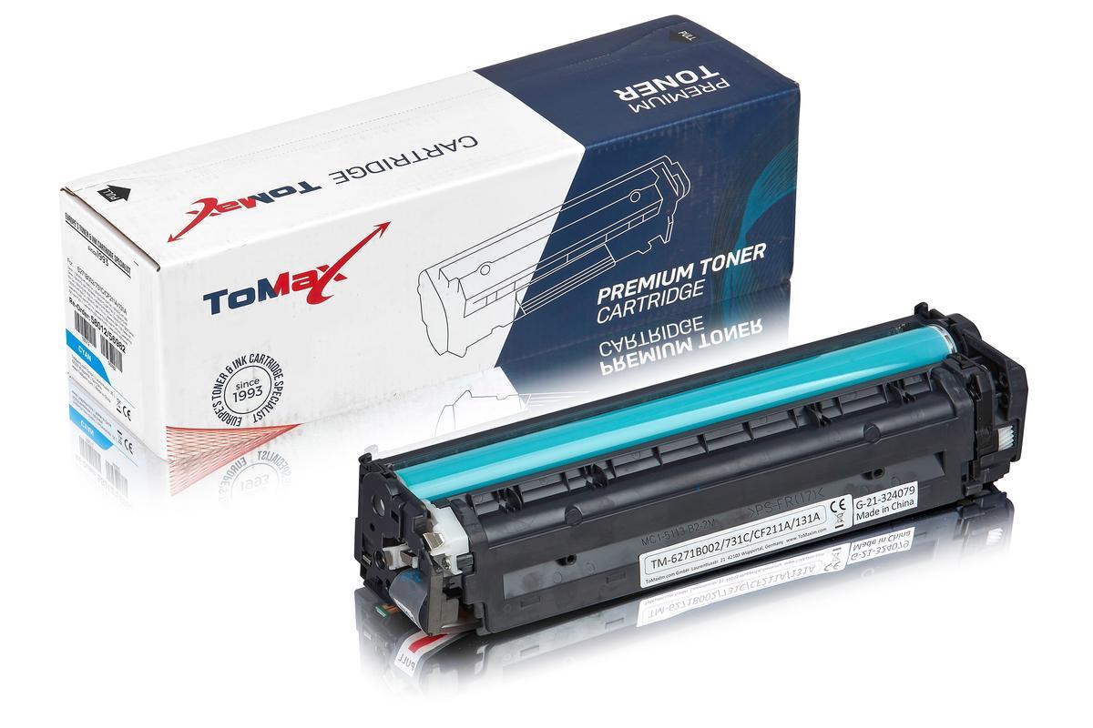 ToMax Premium ersetzt Canon 6271B002 / 731C Toner, cyan
