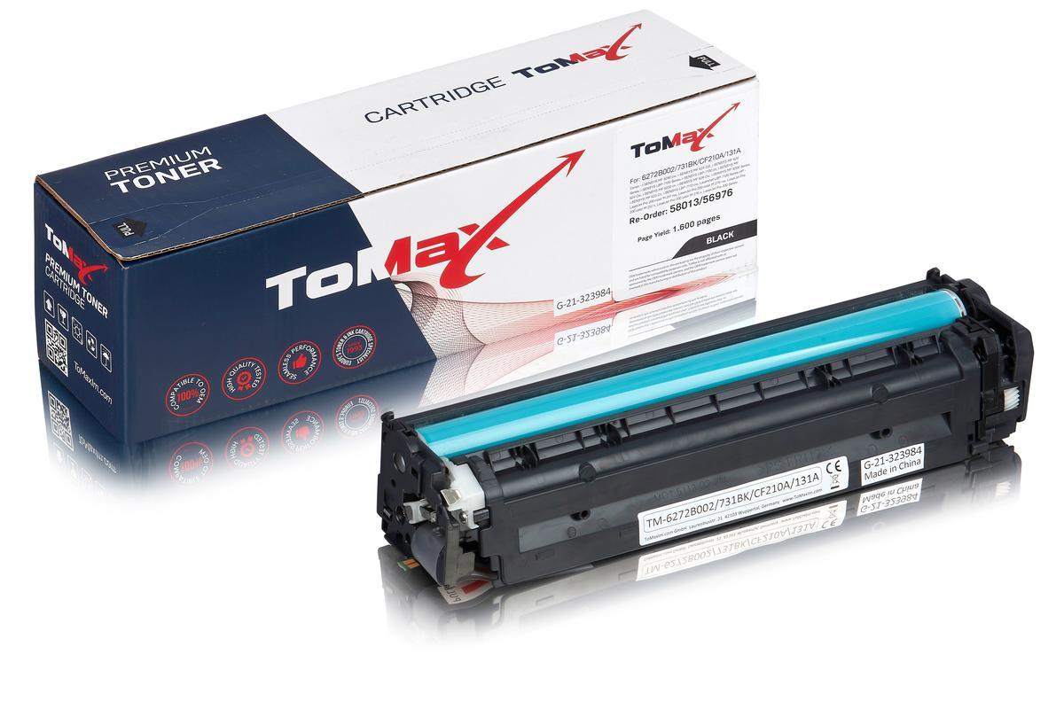 ToMax Premium ersetzt Canon 6272B002 / 731BK Toner, schwarz