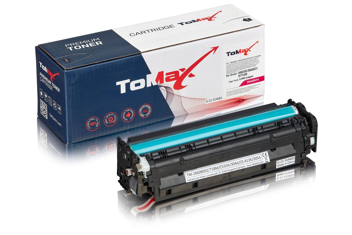 ToMax Premium ersetzt HP CC533A / 304A Toner, magenta