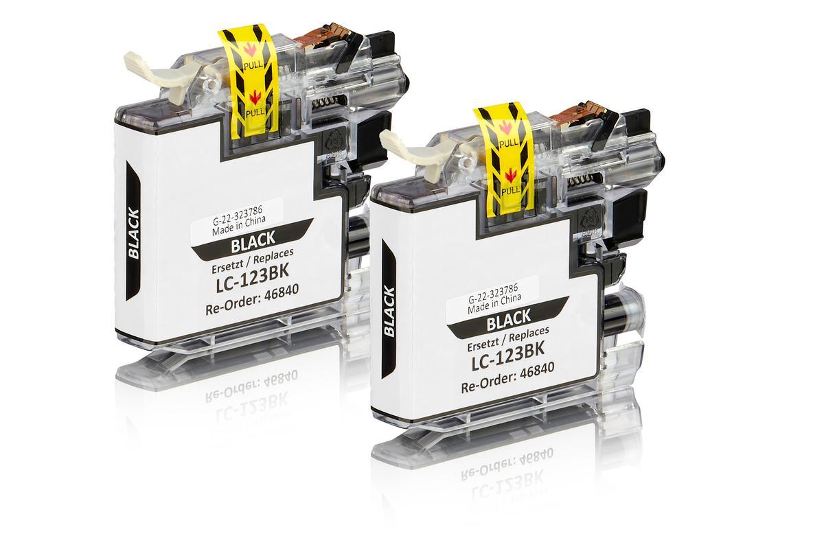 LC-123BK Twin Pack kompatibel Schwarz