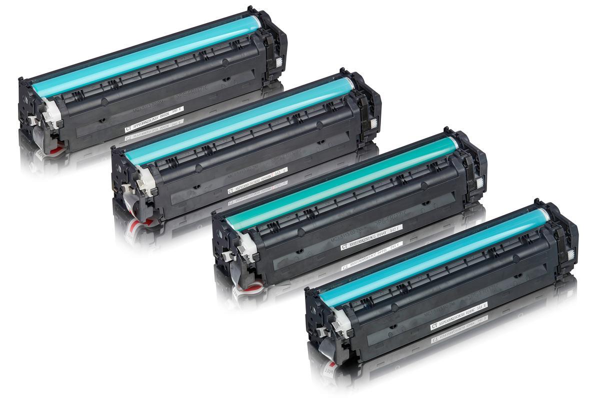 Kompatibel zu HP CB540A / CB541A / CB542A / CB543A Tonerkartusche multipack