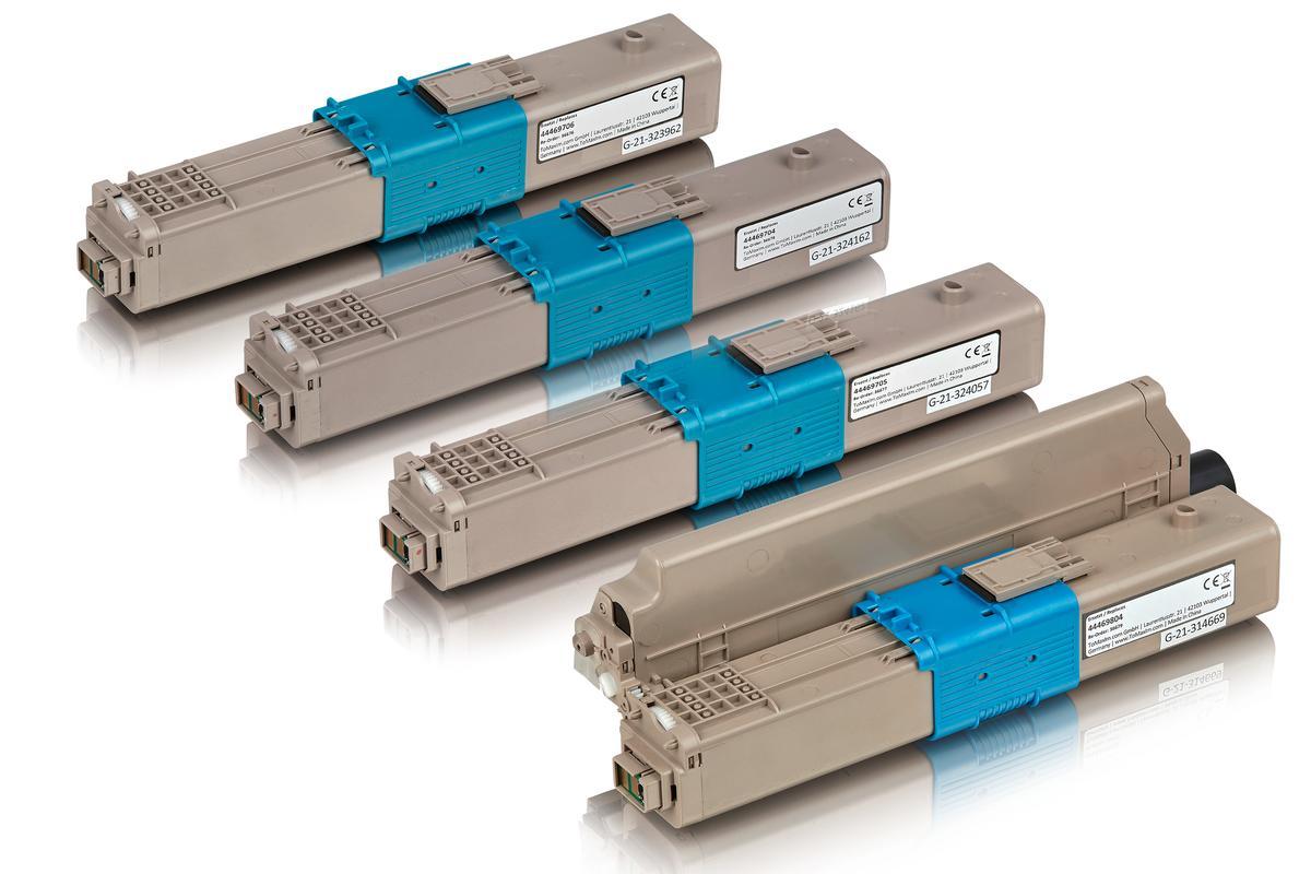 Kompatibel zu OKI 44469803 / 44469704 / 44469705 / 44469706 Tonerkartusche multipack