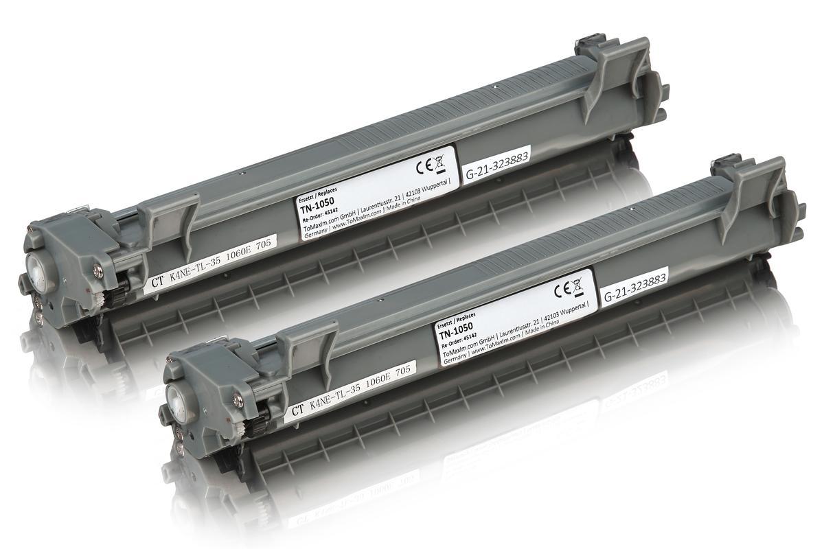 Kompatibel zu Brother TN-1050 Tonerkartusche schwarz Doppelpack