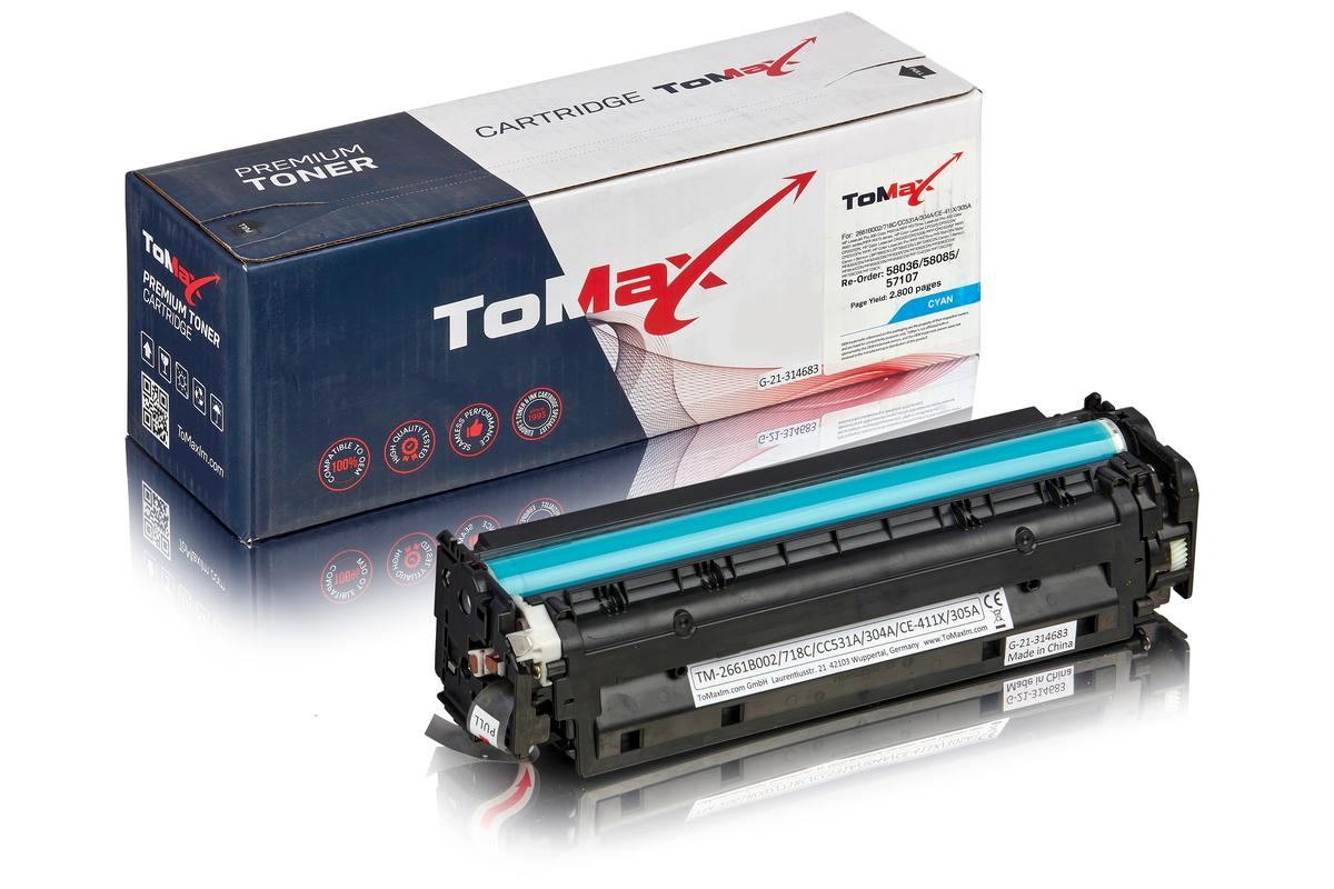 ToMax Premium ersetzt HP CC531A / 304A Toner, cyan