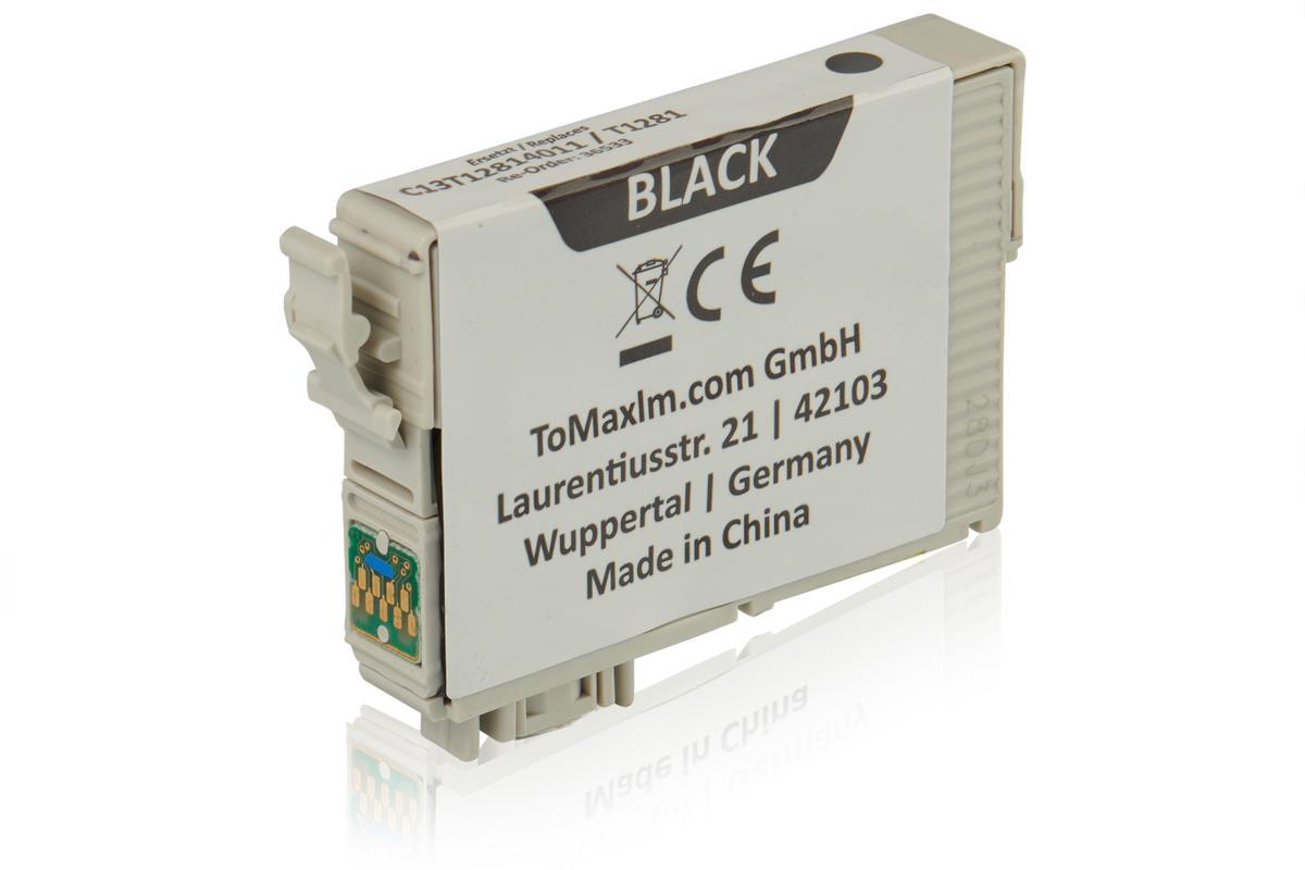 Kompatibel zu Epson C13T12814011 / T1281 XL Tintenpatrone, schwarz