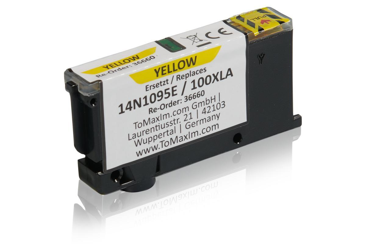 Alternative à Lexmark 14N1095E / 100XLA Cartouche d'encre, jaune