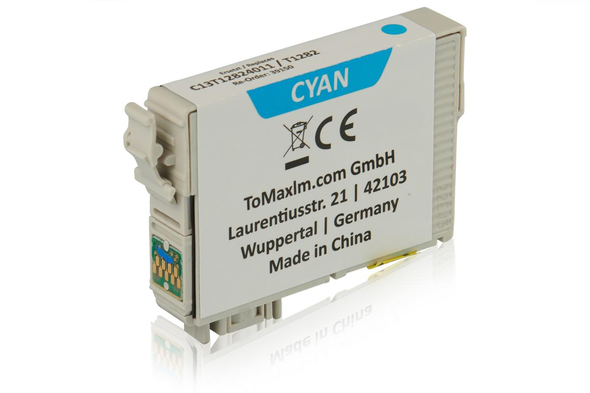 Kompatibel zu Epson C13T12824011 / T1282 Tintenpatrone, cyan