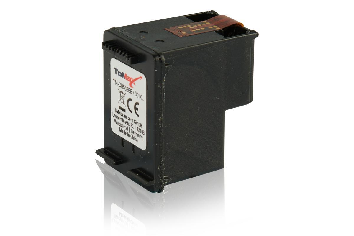 ToMax Premium ersetzt HP CH563EE / 301XL XL Tintenpatrone, schwarz