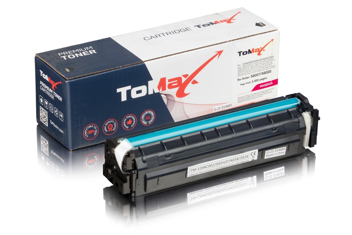 ToMax Premium ersetzt Canon 1244C002 / 045H Toner Magenta