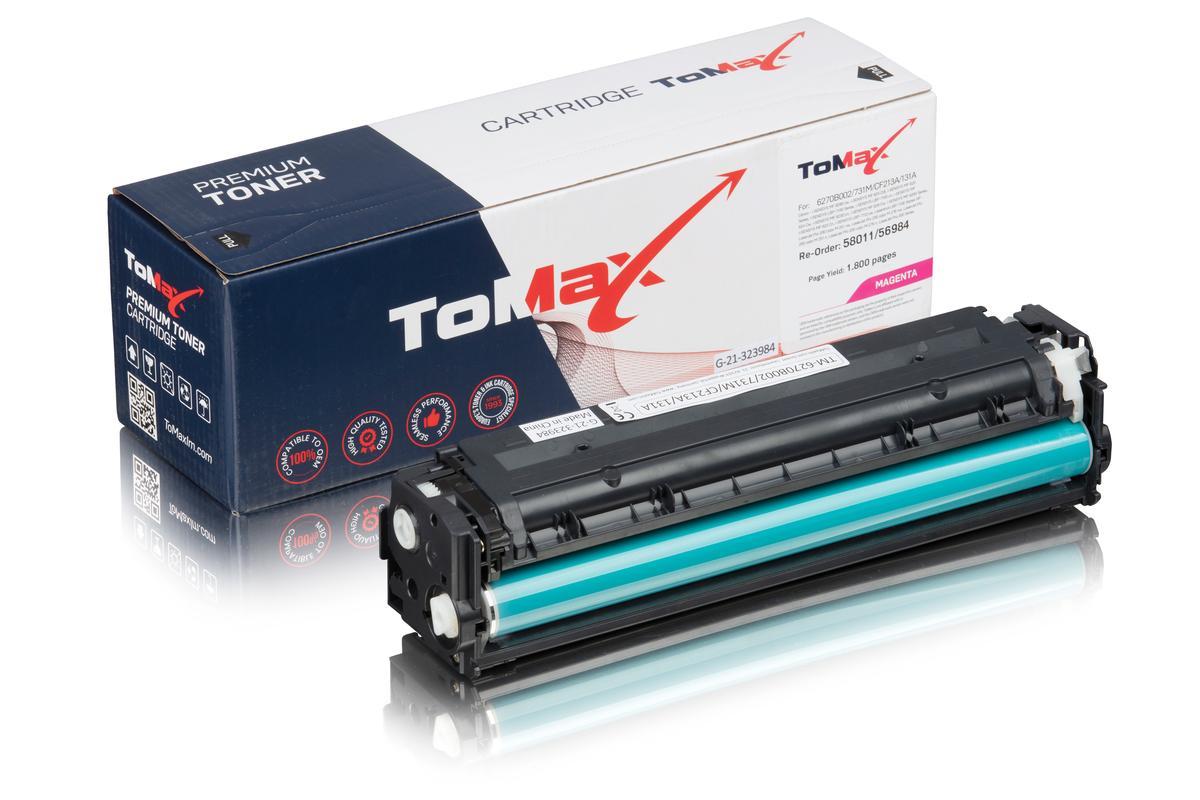 ToMax Premium ersetzt Canon 6270B002 / 731M Toner Magenta