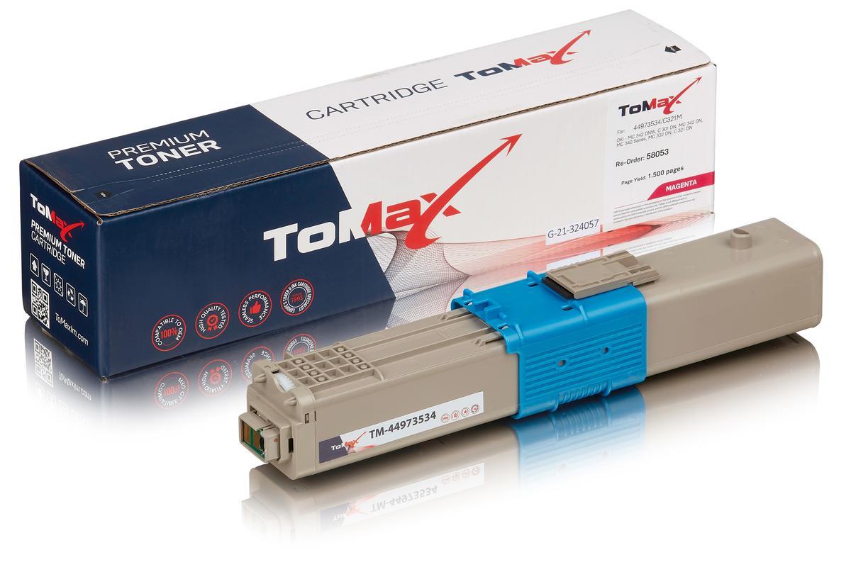 ToMax Premium ersetzt OKI 44973534 / C301 Toner Magenta
