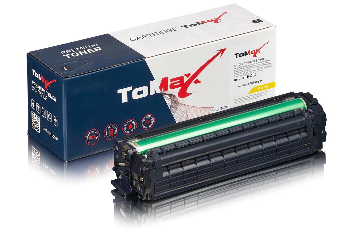 ToMax Premium ersetzt Samsung CLT-Y504S/ELS / Y504 Toner Gelb