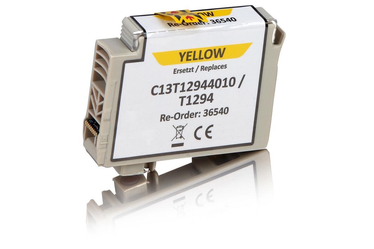Kompatibel zu Epson C13T12944010 / T1294 Tintenpatrone, gelb