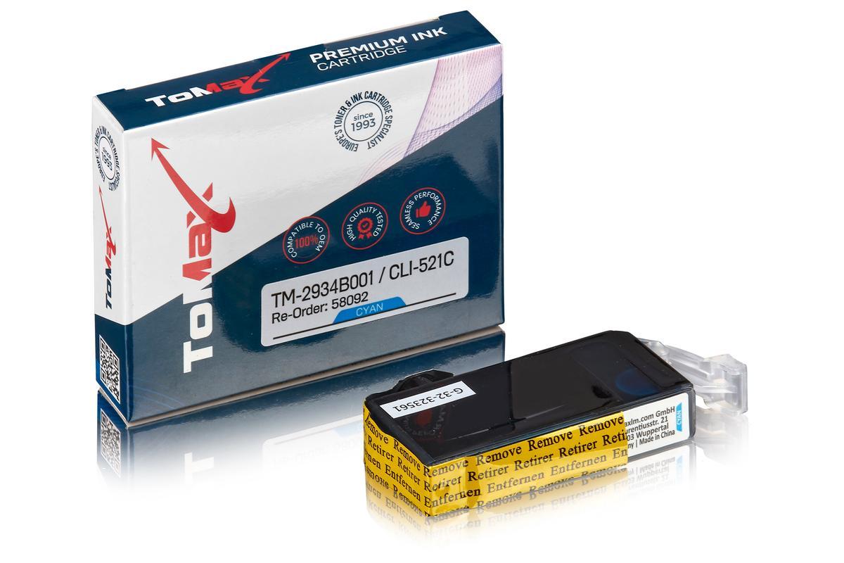 ToMax Premium ersetzt Canon 2934B001 / CLI-521C Tintenpatrone Cyan