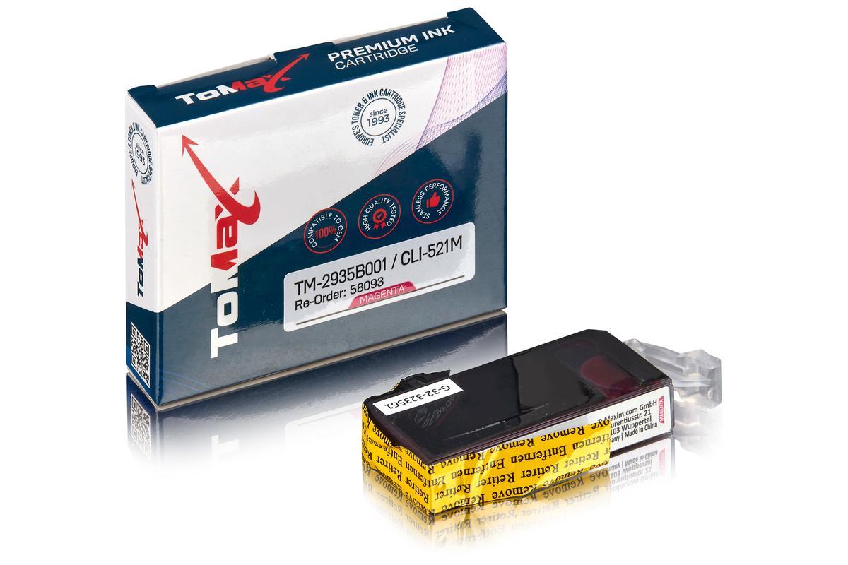ToMax Premium ersetzt Canon 2935B001 / CLI-521M Tintenpatrone Magenta