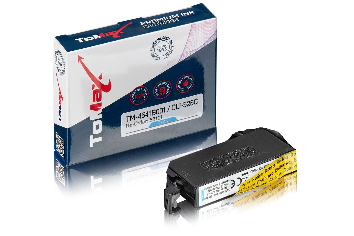 ToMax Premium ersetzt Canon 4541B001 / CLI-526C Tintenpatrone Cyan