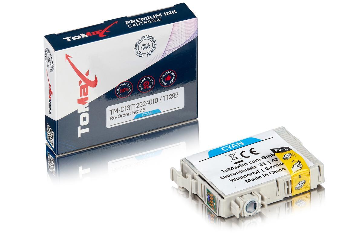 ToMax Premium ersetzt Epson C13T12924010 / T1292 Tintenpatrone Cyan