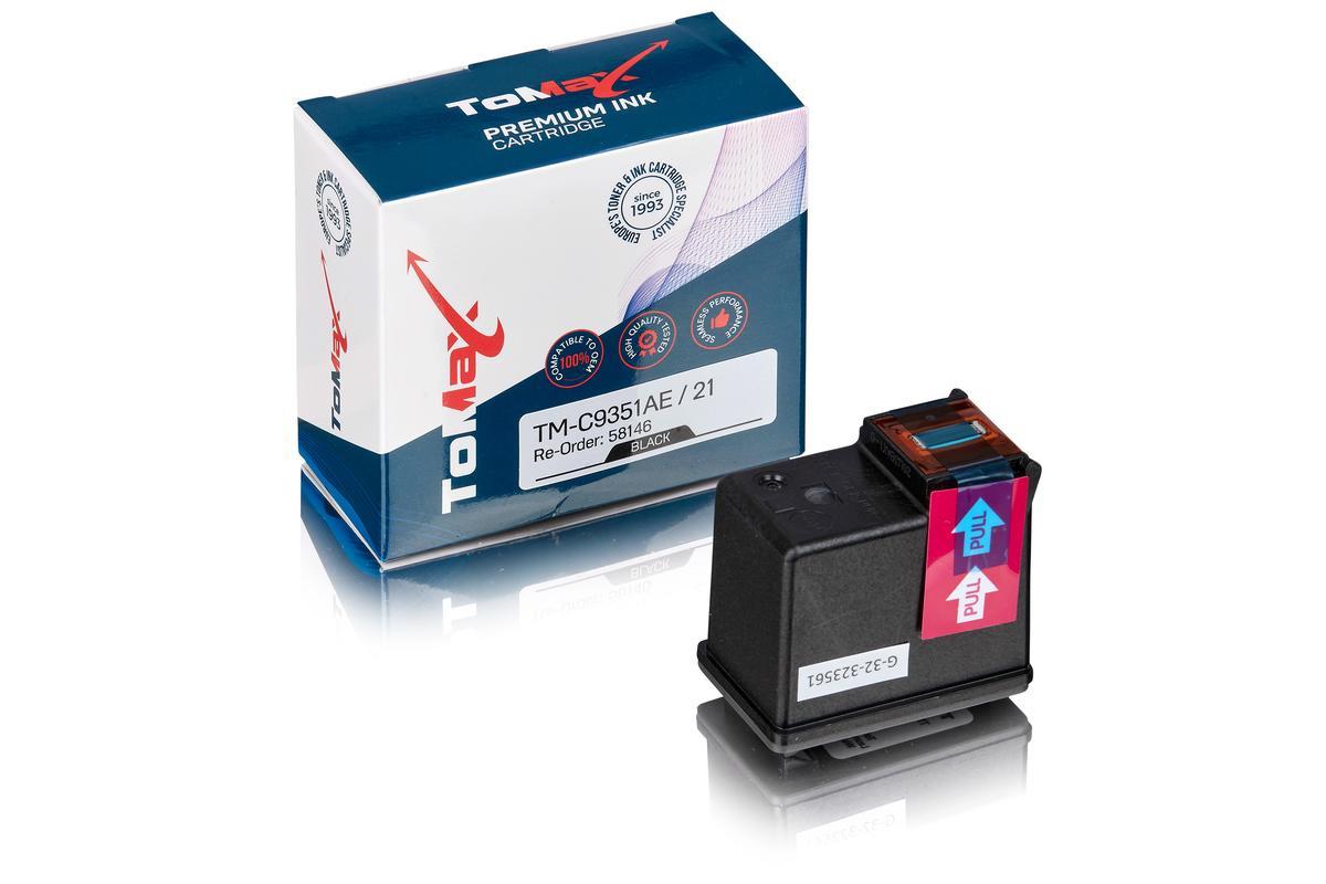 ToMax Premium alternative à HP C9351AE / 21 Cartouche d'encre, noir