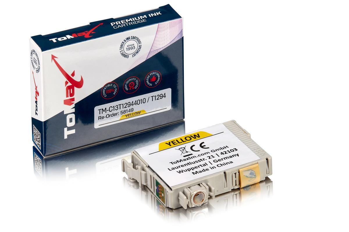 ToMax Premium ersetzt Epson C13T12944010 / T1294 Tintenpatrone Gelb