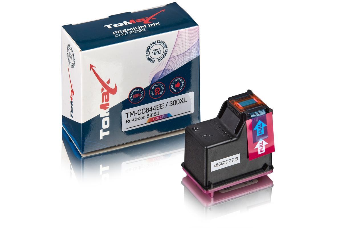 ToMax Premium alternative à HP CC644EE / 300XL Cartouche à tête d'impression, couleur
