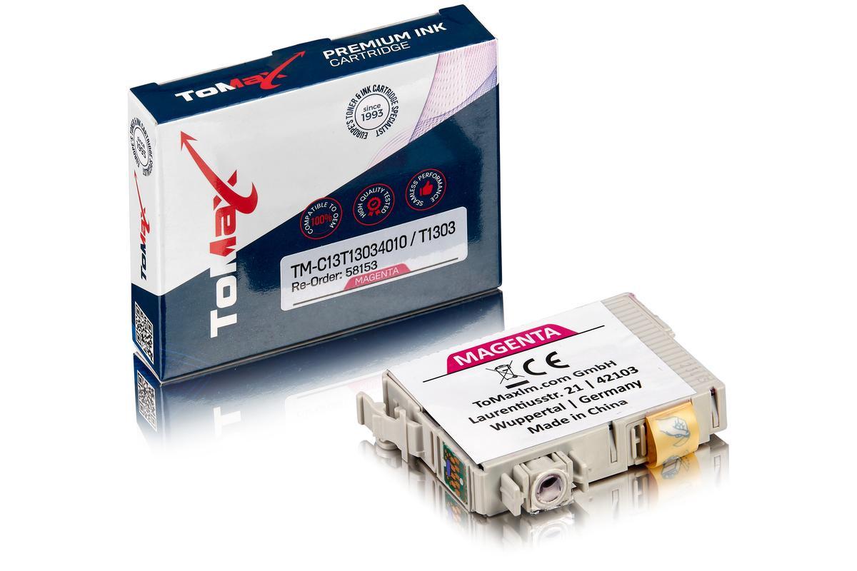 ToMax Premium ersetzt Epson C13T13034010 / T1303 Tintenpatrone Magenta