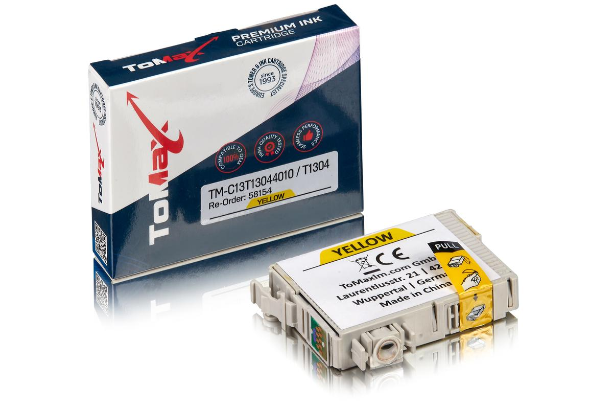 ToMax Premium ersetzt Epson C13T13044010 / T1304 Tintenpatrone Gelb