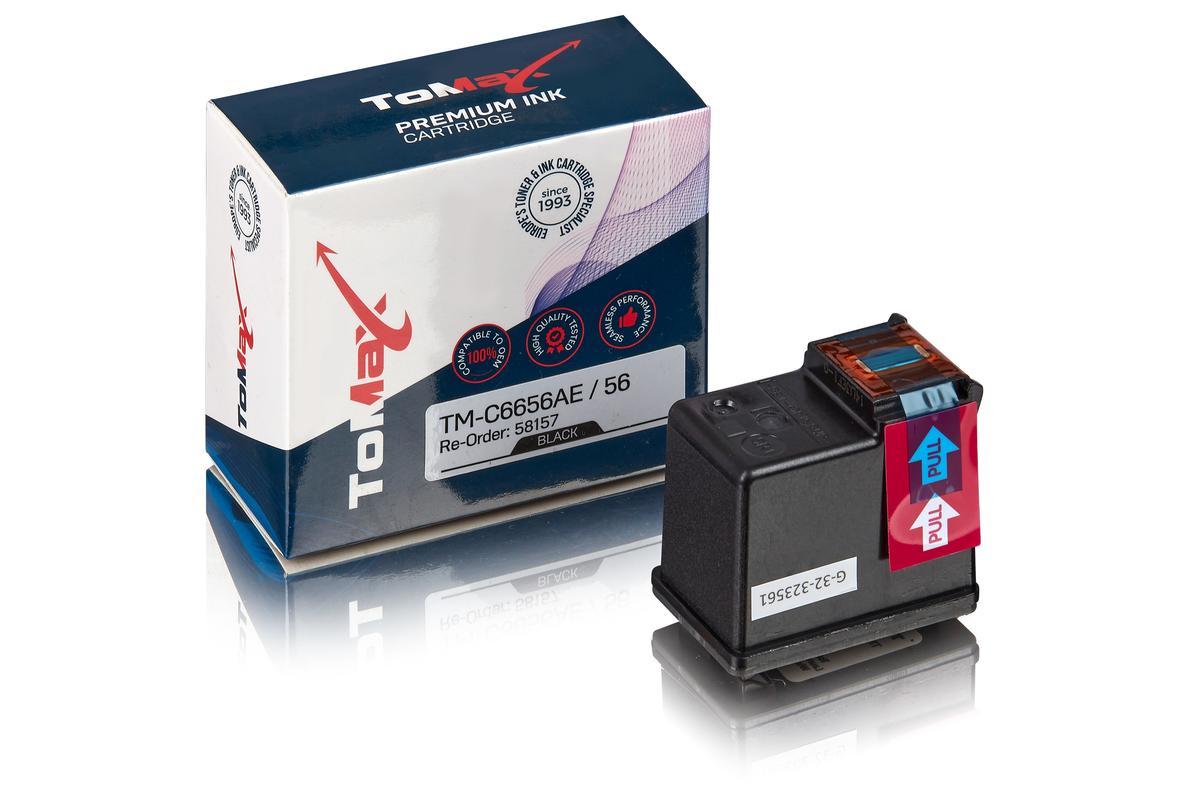 ToMax Premium ersetzt HP C6656AE / 56 Tintenpatrone Schwarz