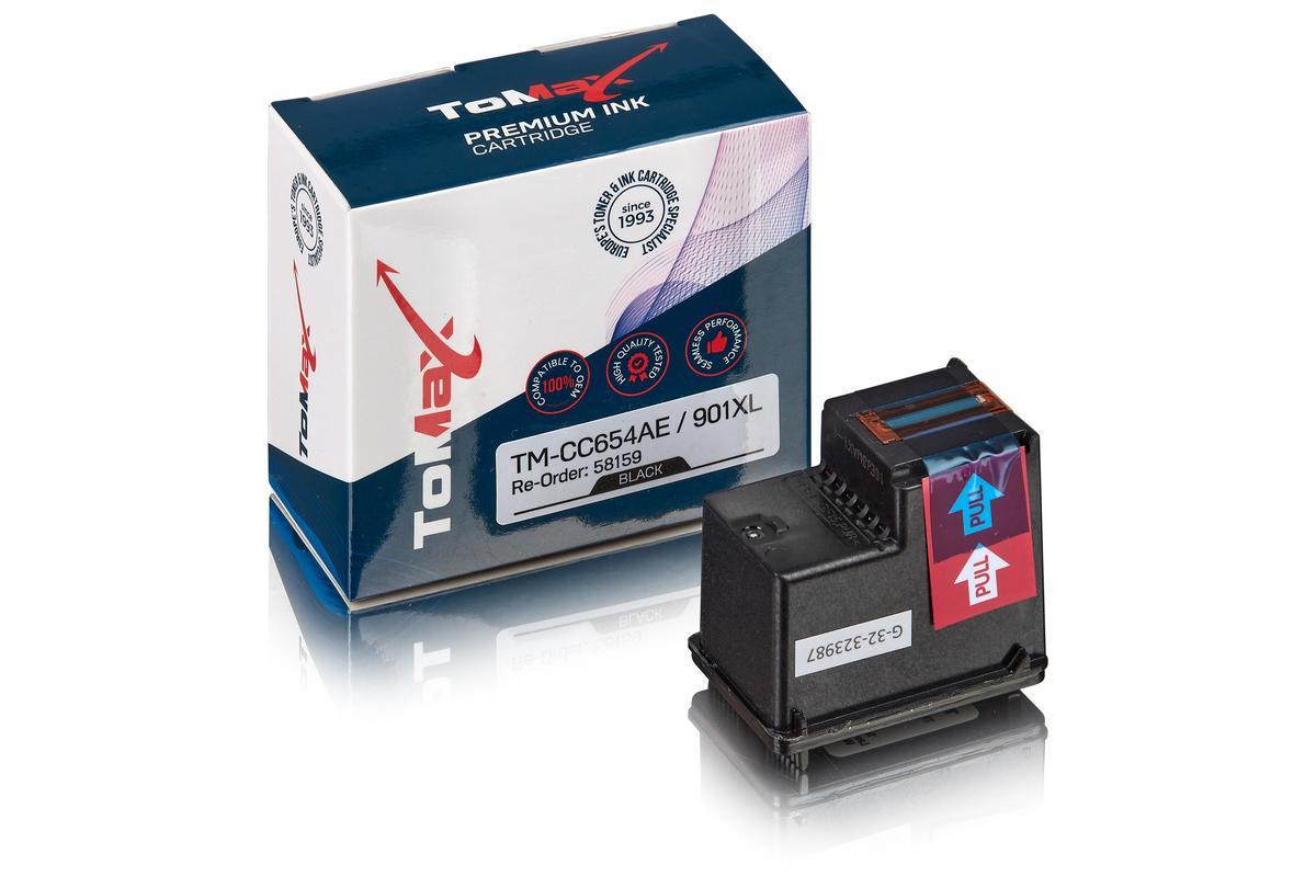 ToMax Premium ersetzt HP CC654AE / 901XL Tintenpatrone Schwarz