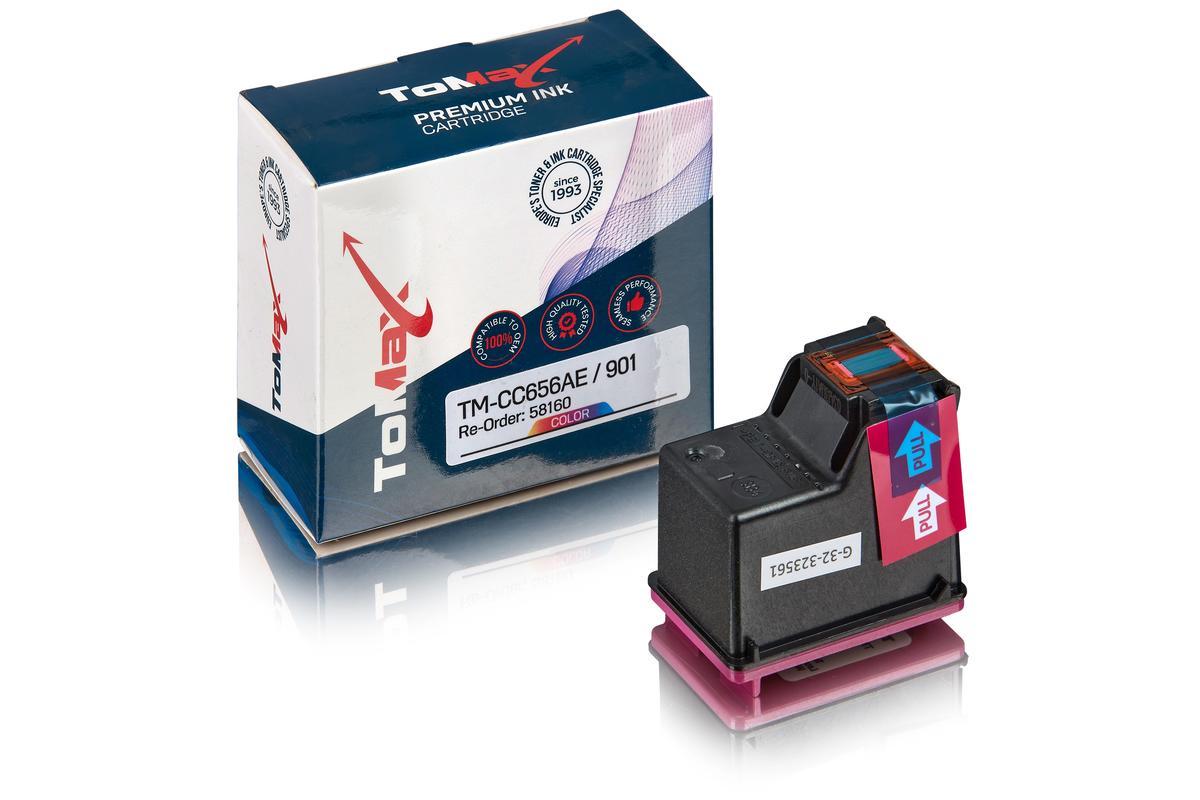 ToMax Premium ersetzt HP CC656AE / 901 Tintenpatrone Color