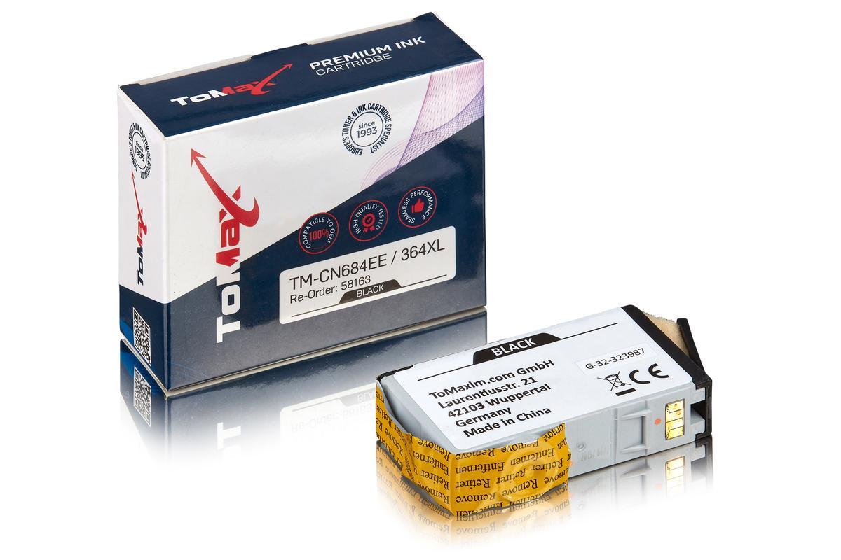 ToMax Premium ersetzt HP CN684EE / 364XL Tintenpatrone Schwarz