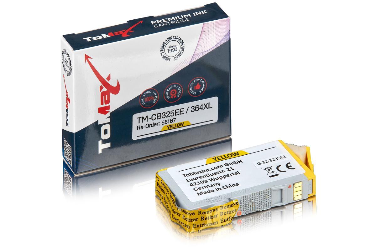 ToMax Premium ersetzt HP CB325EE / 364XL Tintenpatrone Gelb