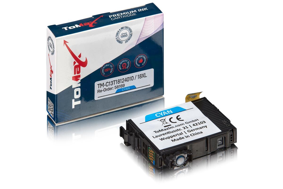 ToMax Premium ersetzt Epson C13T18124010 / 18XL Tintenpatrone Cyan
