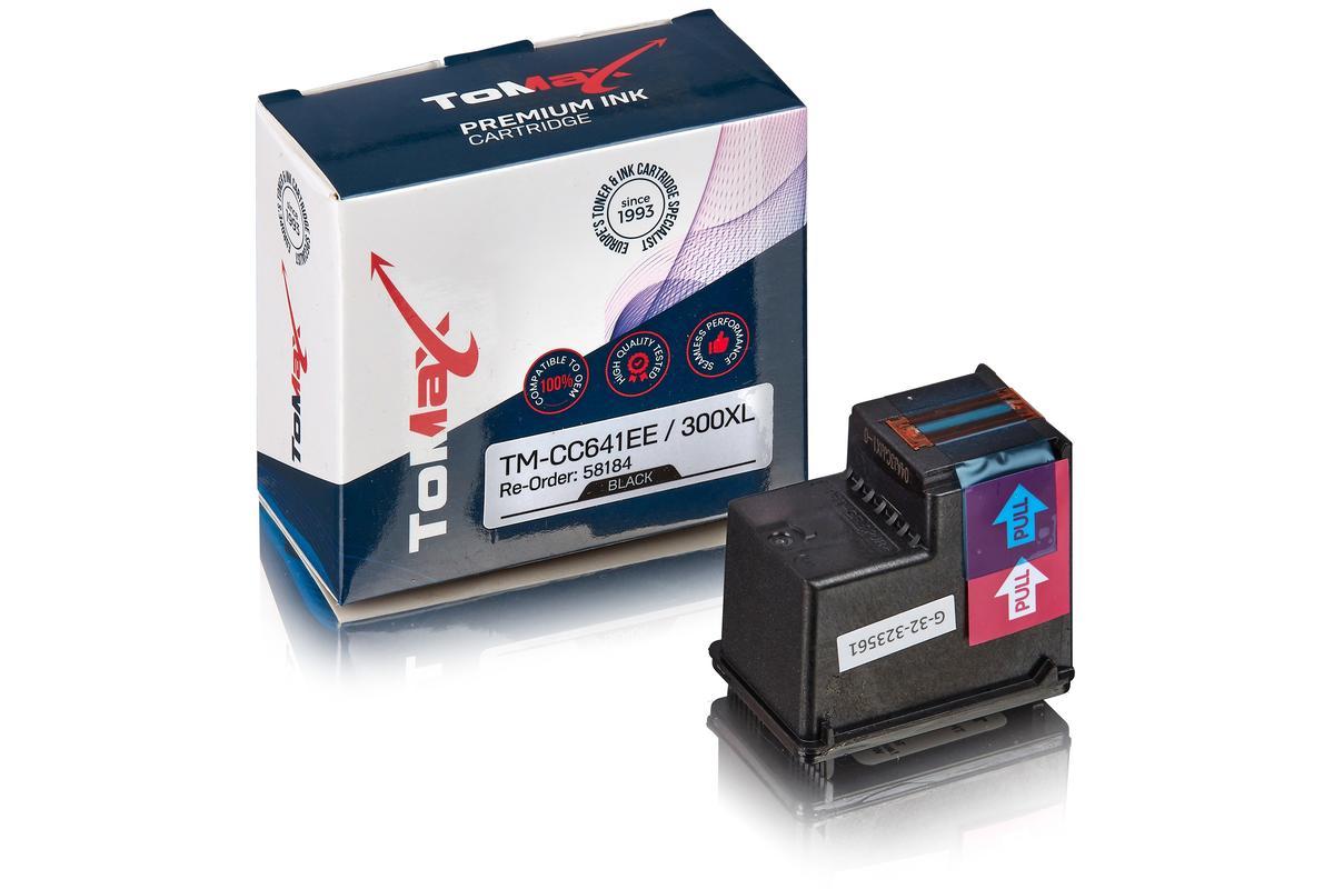 ToMax Premium ersetzt HP CC641EE / 300XL Druckkopfpatrone, Schwarz