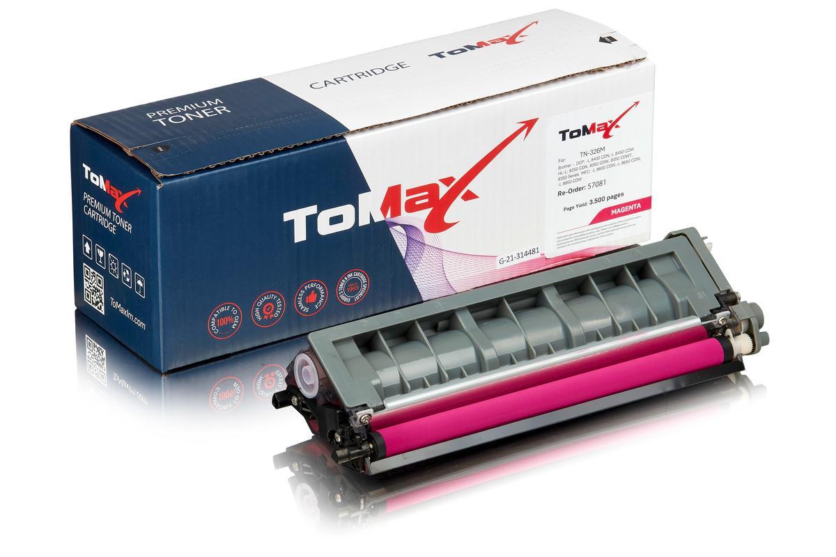 ToMax Premium ersetzt Brother TN-326M Toner, magenta