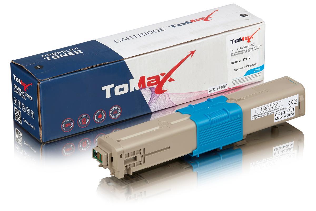 ToMax Premium ersetzt OKI 44973535 / C301 Toner, cyan