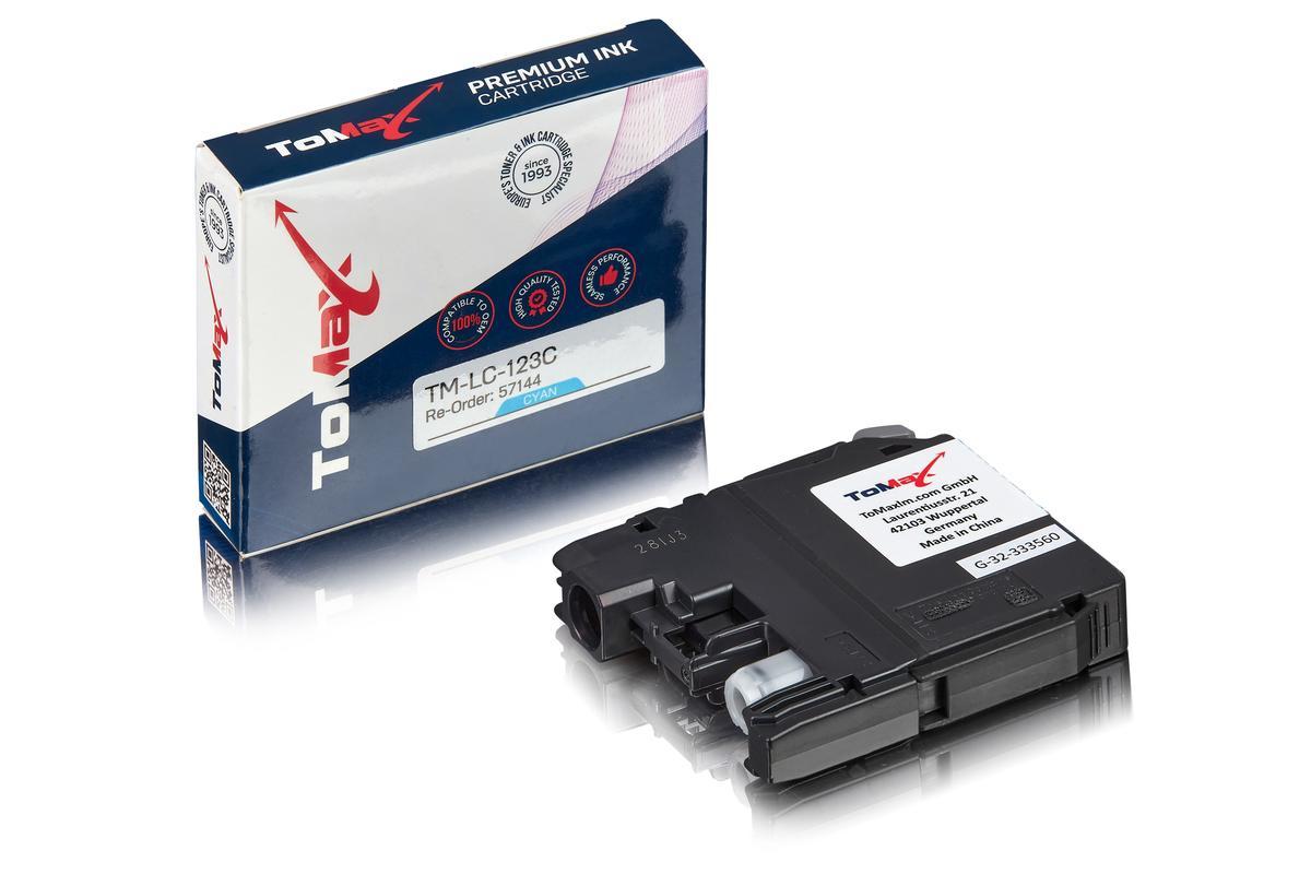 ToMax Premium ersetzt Brother LC-123C Tintenpatrone, cyan
