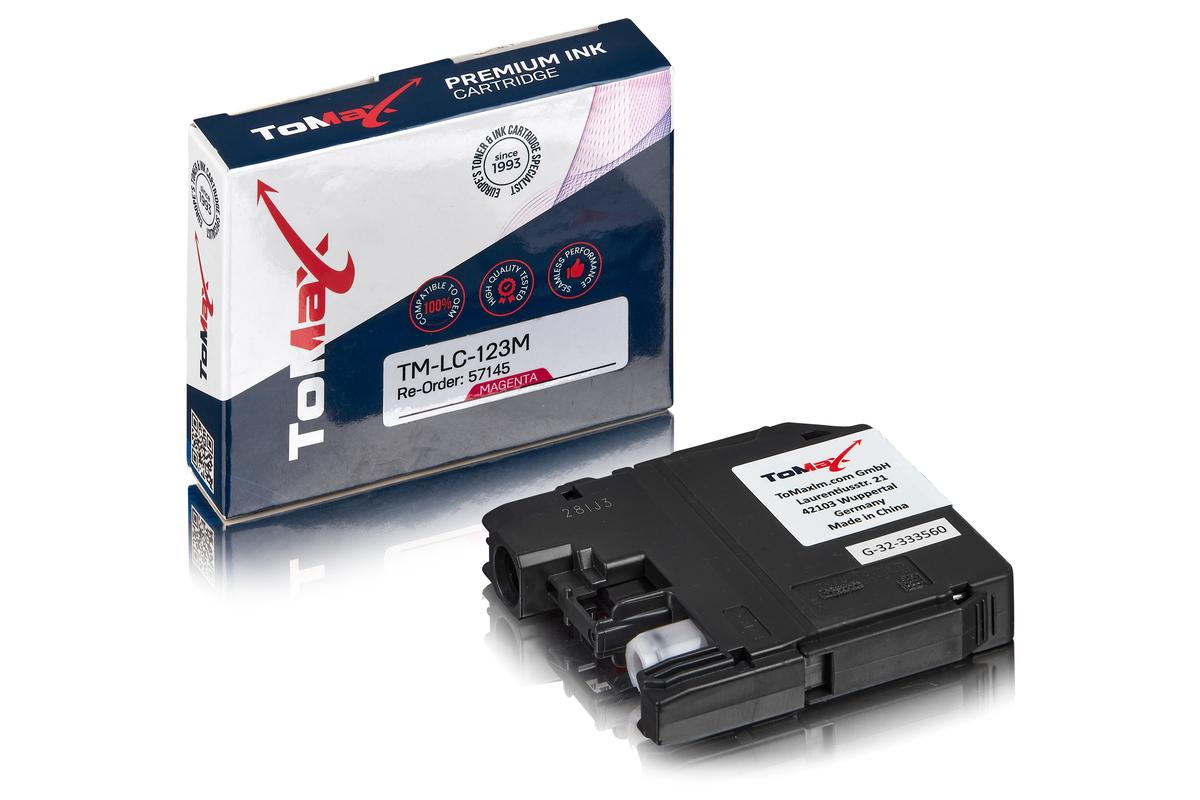 ToMax Premium ersetzt Brother LC-123M Tintenpatrone, magenta