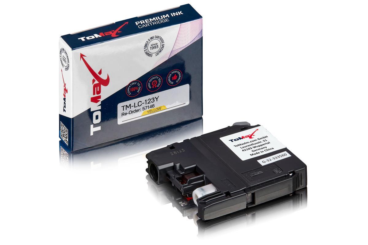 ToMax Premium ersetzt Brother LC-123Y Tintenpatrone, gelb
