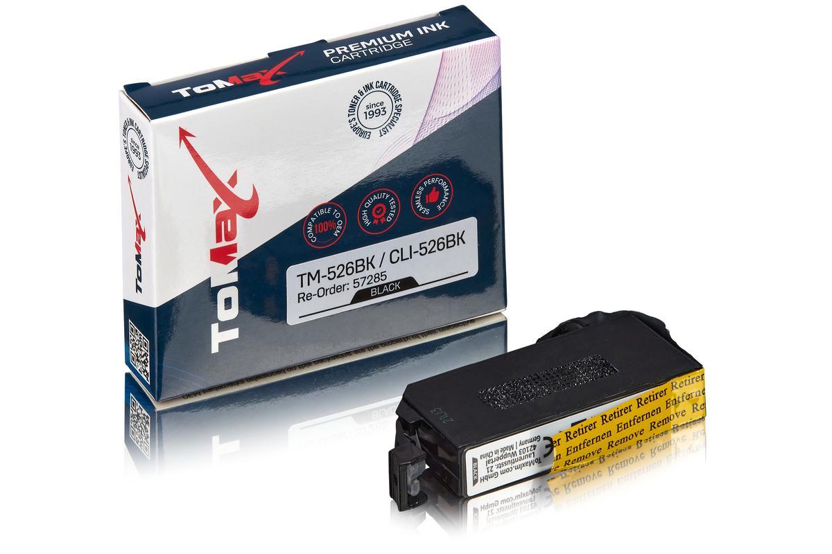 ToMax Premium ersetzt Canon 4540B001 / CLI-526BK Tintenpatrone, schwarz