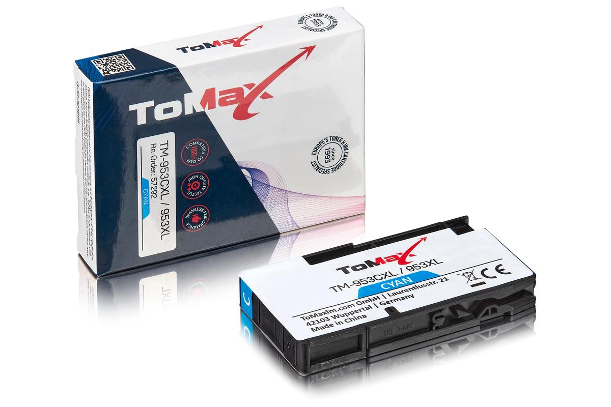 ToMax Premium ersetzt HP F6U16AE / 953XL Tintenpatrone, cyan