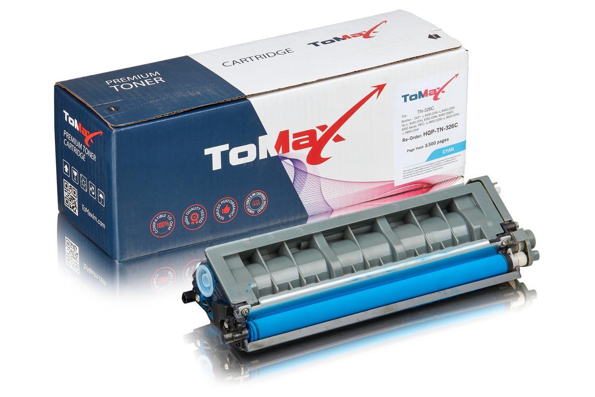 ToMax Premium ersetzt Brother TN-326C Toner, cyan