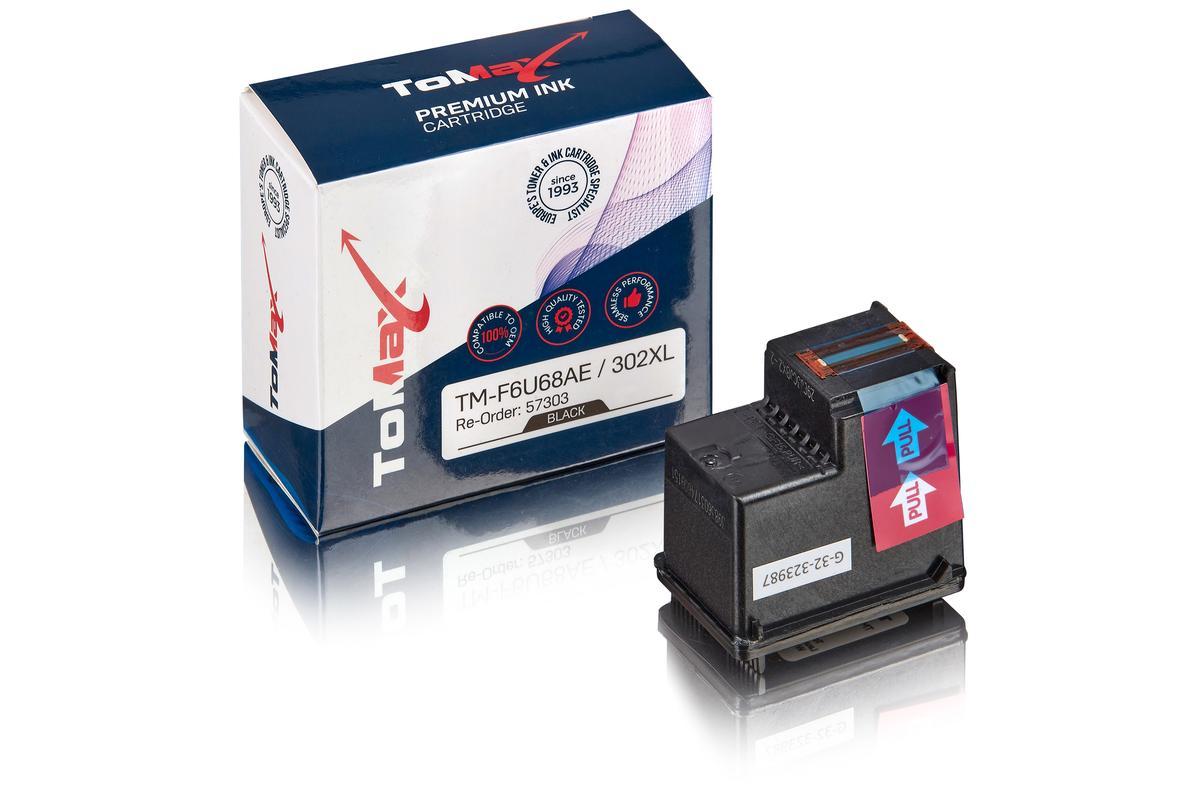 ToMax Premium ersetzt HP F6U68AE / 302XL Druckkopfpatrone, schwarz