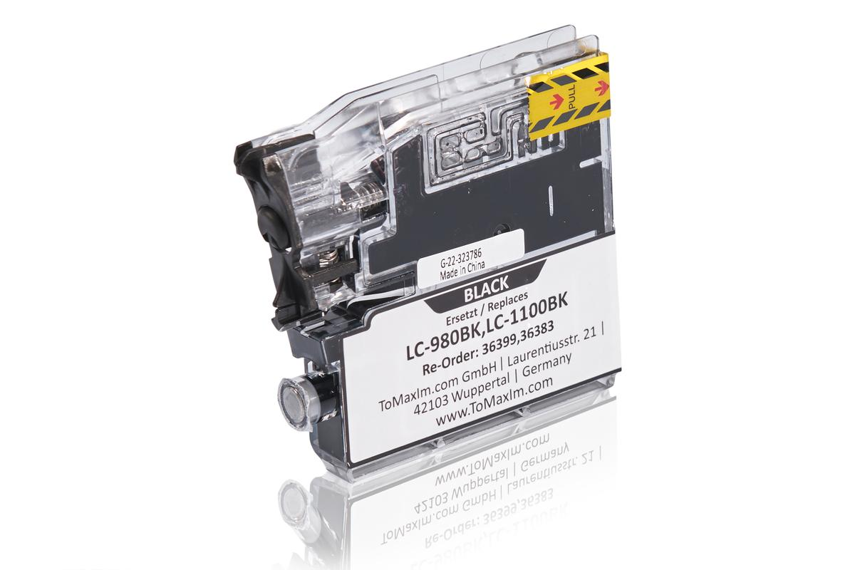 Alternative à Brother LC-980BK XXL Cartouche d'encre, noir