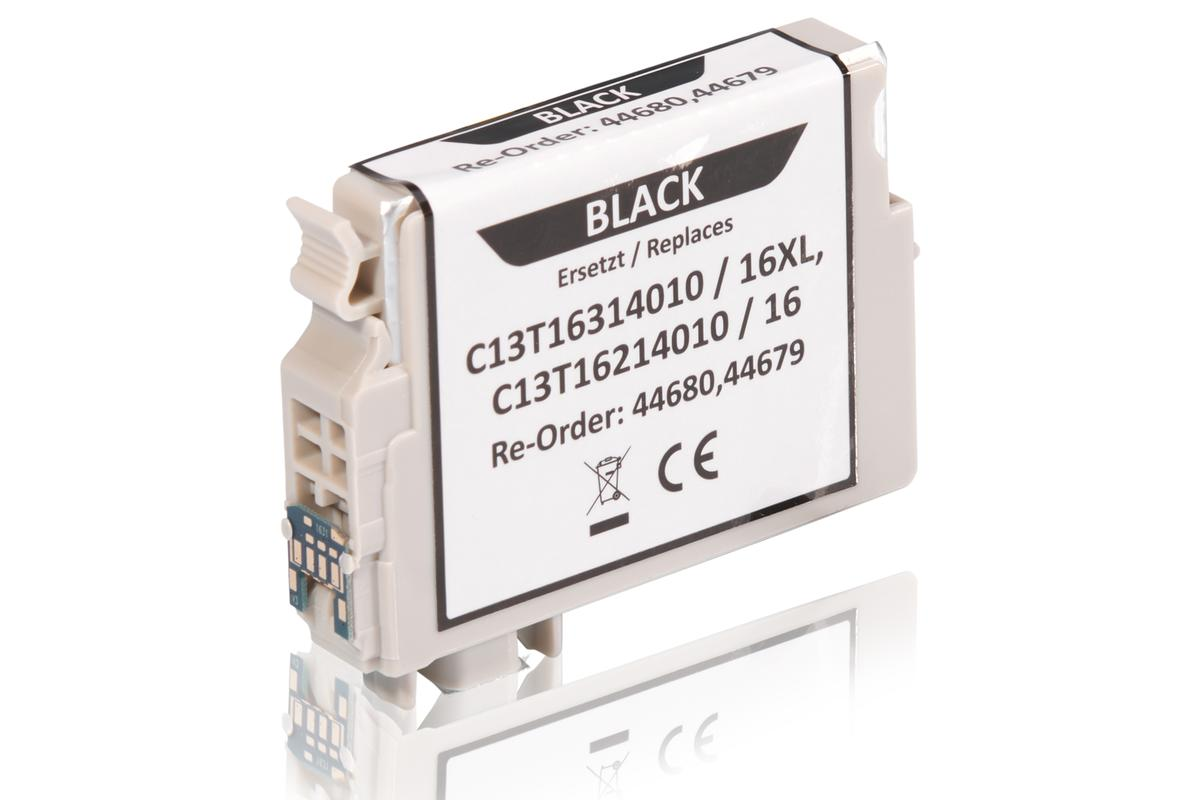 Kompatibel zu Epson C13T16214010 / 16 Tintenpatrone, schwarz