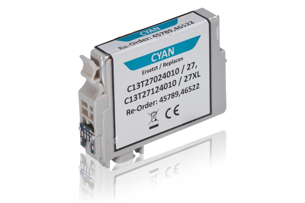 Kompatibel zu Epson C13T27024010 / 27 Tintenpatrone, cyan