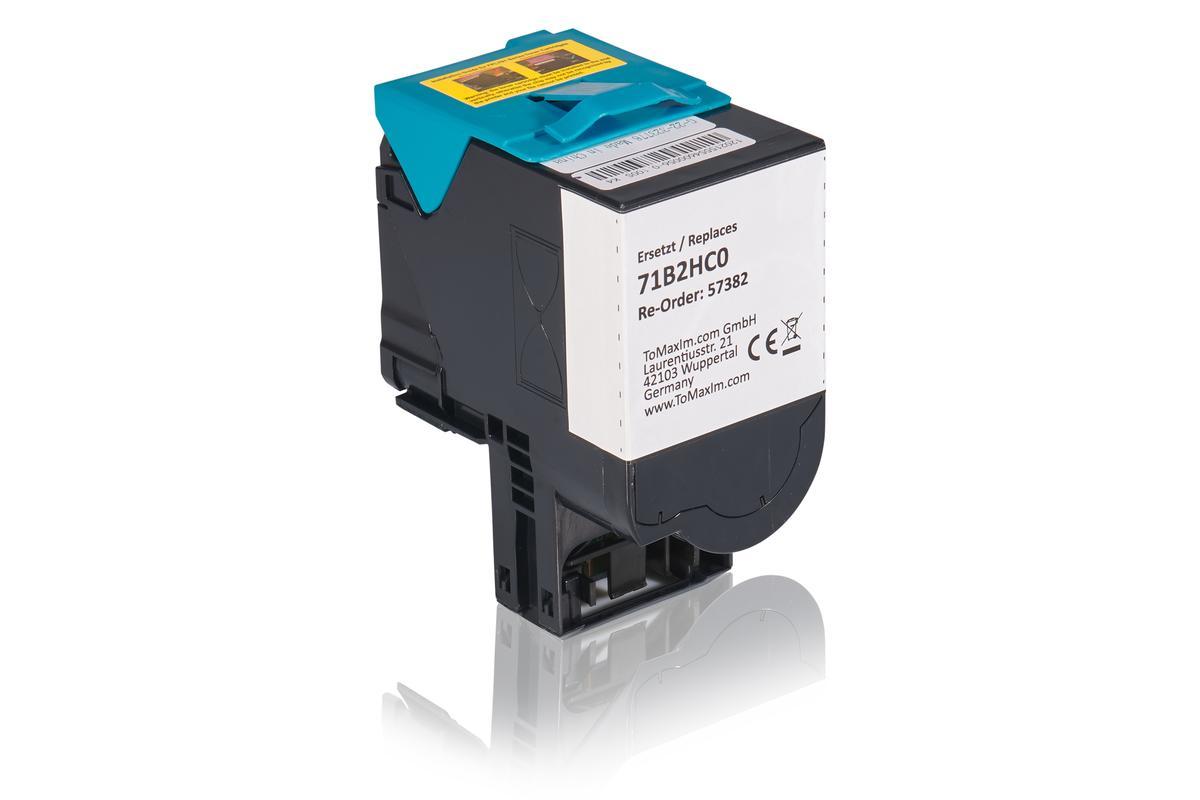 Kompatibel zu Lexmark 71B2HC0 Tonerkartusche, cyan