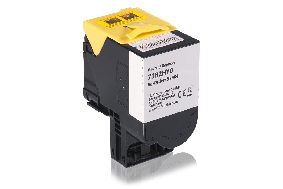 Kompatibel zu Lexmark 71B2HY0 Tonerkartusche, gelb