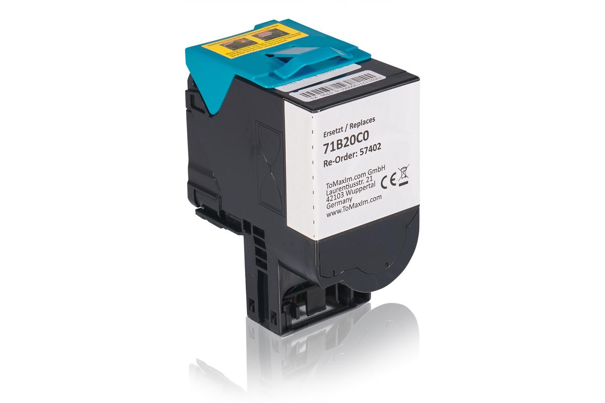 Kompatibel zu Lexmark 71B20C0 Tonerkartusche, cyan